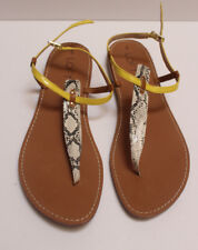 Ann Taylor Loft Flat Sandals Trimmed in Yellow Size 10 M EUC!, may be NWOT