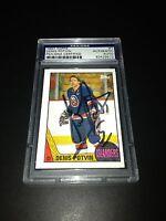 Denis Potvin Signed 1987-88 Topps NY Islanders Card PSA Slabbed #83429572