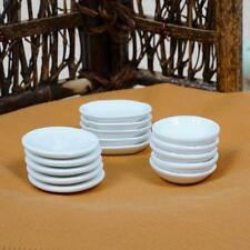Dolls House 1:12 Miniature White 3 Model Dishes Plates Kitchen Tableware 5PcU
