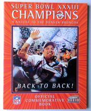 Terrell Davis Signed Autograph Superbowl XXXIII Magazine Denver Broncos GV907565