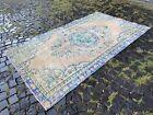 Handmade large rug, Turkish %100 wool rug, Oushak rug   4,8 x 8,4 ft