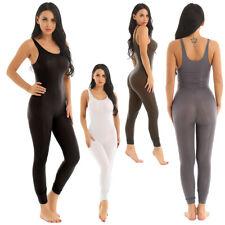 Damen Body Durchsichtig Jumpsuit Overalls Ärmellos Trikot mit Reißverschluss