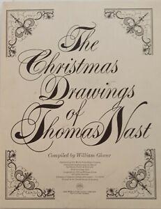 Rare Christmas Drawings of Thomas Nast - 30 Drawing Portfolio - Repo - 1970