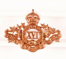 Canadian Army Badge: 16th Prince Edward Regiment, collar - nhm, brass