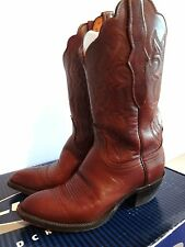 LUCCHESE 2000 WOMAN'S BROWN LEATHER COWBOY BOOTS SIZE 6.5 6 1/2 RETAIL NEW@ $500