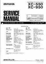 Aiwa Service Manual para xc-550 XC - 950.