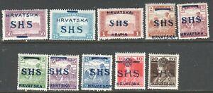 YUGOSLAVIA  SHS  10 HUNGARY  CROATIA OCCUPATION  NH