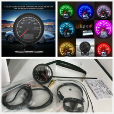 62mm 7 Colors LCD Display Water Temp Temperature Voltage Meter Guage For Car SUV