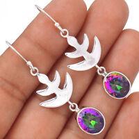 Rainbow Topaz 925 Sterling Silver Earrings Jewelry EE80910