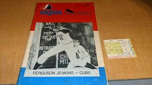 1972 Montreal Expos Baseball Program Scorebook W/Ticket Stub