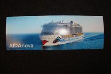 1 Magnetkarte der AIDAnova 16 cm x 5,5 cm