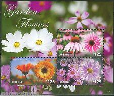 LIBERIA  2014 GARDEN FLOWERS SHEET I  MINT NH