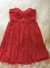 George Evening Dress, Strapless Salmon/Coral - Size 12
