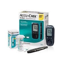ACCU-CHEK ACTIVE Glucometer Blood Sugar Monitor New English Manual