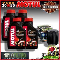Entretien Huile MOTUL 7100 20W50 + Filtre Harley FLSTC Heritage Softail Classic