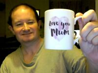 LOVE YOU MUM MOTHER'S DAY MUG  PERFECT GIFT! FREE UK POST