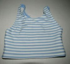 HANNA ANDERSSON Light Blue & White Girls Tankini Swim Top Bathing Suit 110 US 5