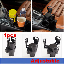 Carbon Fiber Look Coffee Cup Drink Bottle Holder For Car Interior Center Console