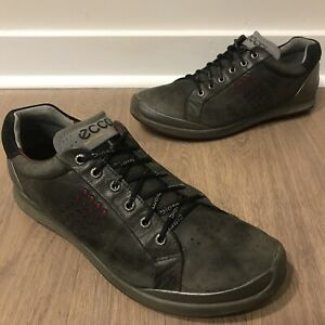 ECCO Biom Hybrid Natural motion Men's Red/Black Yak Leather Golf Shoes Sz 45