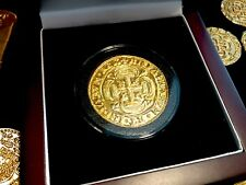 MEXICO 1715 FLEET ROYAL 8 ESCUDOS GOLD PLT PENDANT DOUBLOON COB TREASURE COIN