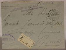 POSTA MILITARE 130 RACCOMANDATA INTENDENZA ARMATA CARABINIERI 5.9.1919  #XP470B