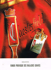PUBLICITE ADVERTISING 074  1992  CHESTERFIELD    cigarettes  3