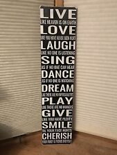 Live Laugh Love Sing Dance Dream Play Give Smile Cherrish Family Huge Wood Sign