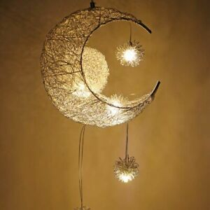Modern Pendant Ceiling Lamps Moon Star Chandelier Children Bedroom Hanging Light