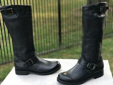 Frye Veronica Slouch black tumbled full grain boots size 7 new without box