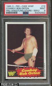 1985 O-PEE-CHEE OPC WWF Pro Wrestling Stars #12 Cowboy Bob Orton PSA 9 MINT