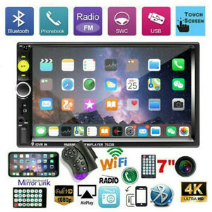 """7"""" Double 2 DIN Car Radio Stereo Bluetooth FM USB TF AUX IOS/Android MP5 Player"""