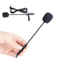 New 3.5mm Jack Clip On Lapel Microphone Hands Free Wired Condenser Mini Mic Sale