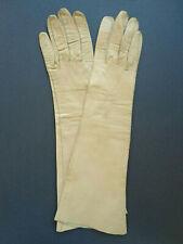 Vintage Bloomingdale French kidskin gloves buff-colored women size 7 Inv2842