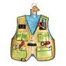 """Fishing Vest"" (44091)X Old World Christmas Glass Ornament w/ OWC Box"