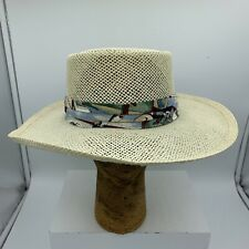 0d9711a8 Country Gentleman Banded Golf Themed Straw Panama Style Hat Size 7 1/8