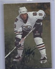 98-99 1998-99 BE A PLAYER BILL GUERIN GOLD AUTOGRAPH AUTO 53 EDMONTON OILERS
