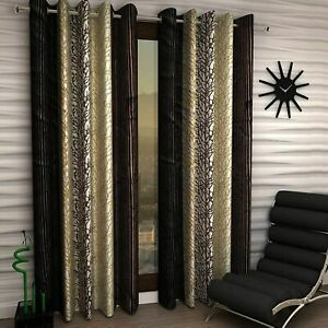 Polyester Door Curtains Set of 2 Pieces door curtains- 7 Feet(4ft x 7ft) Coffee
