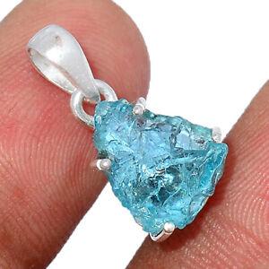 Aquamarine Rough - Brazil - Stone Of Courage 925 Silver Pendant Jewelry BP95391