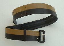 COOL 80er 90er Damengürtel ECHTES LEDER dunkelbraun hellbraun Gürtel Breite:5 cm