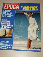 EPOCA=1980/1555=RENZO ROSSO=EMILIO FEDE=IDA DI BENEDETTO=ARTE TIFFANY LAMPADE=