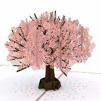 Tarjeta Emergente de Cerezos En Flor, Tarjeta 3D, Tarjeta de Cumpleaños, Ta X6R3