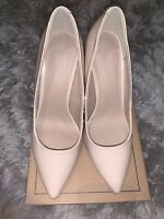 Asos Patent Nude Stiletto Heeled Pointed Court Shoes size 6