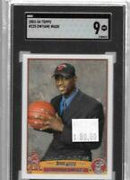 Dwyane Wade 2003 Topps rookie draft pick SGC 9 -- Heat