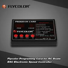 Flycolor Programing Card for RC Boats ESC Electronic Speed Controller NEW A2O3