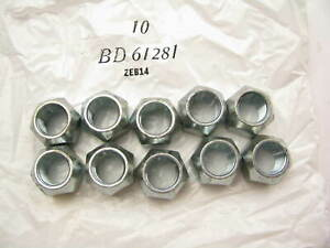(10) Wagner BD61281 Wheel Lug Nuts - Front / Rear