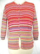 Gestreifte Damen-Pullover & Strickware aus Baumwolle mit Rundhals und Knöpfe