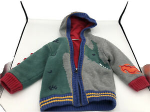 hanna andersson 12-18 month zip up sweater Dinosaur
