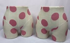 Mannequin Bottom Underwear Lady Buttocks Display Part Polka Dot Covered Lot of 2