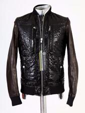Diesel Black Gold Part Leather Jacket EU44 Small Patent Look RRP £775
