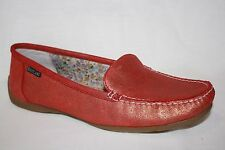 EASTLAND DAYTONA RED BRONZE METALLIC SLIP ON LOAFERS FLATS WOMENS SHOES SZ 11 M